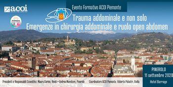 """Evento formativo ACOI Piemonte """"Trauma addominale e non solo. Emergenze in chirurgia addominale e ruolo open abdomen"""""""
