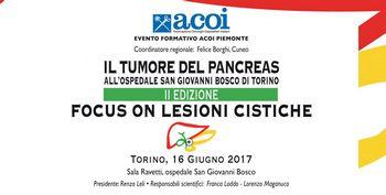 Il tumore del pancreas all'Ospedale San Giovanni Bosco di Torino – II Edizione  Focus on lesioni cistiche