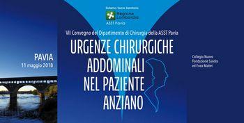 VII Convegno del Dipartimento di Chirurgia della ASST Pavia URGENZE CHIRURGICHE ADDOMINALI NEL PAZIENTE ANZIANO