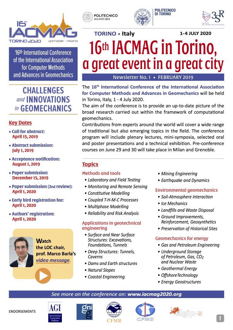 Polito Calendario 2020.16th International Conference Of Iacmag