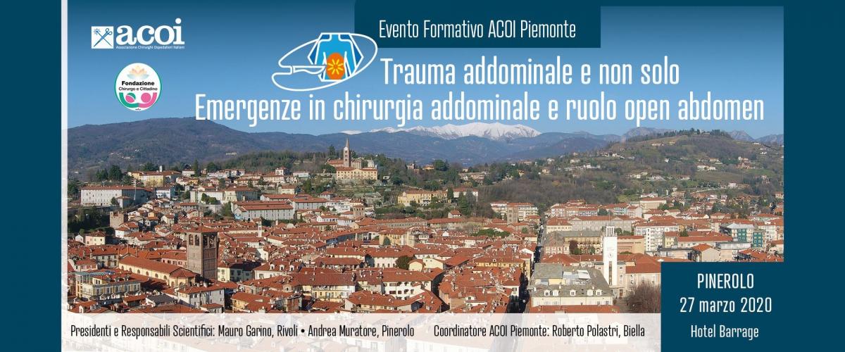 Coronavirus: rinviato l'evento formativo ACOI in programma a Pinerolo il 27 marzo